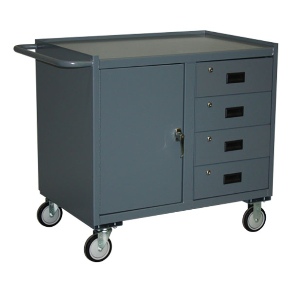"""Jamco Mobile Cabinet, 4 Drawers, 1 Door, 36""""H x 36""""W x 24 ..."""