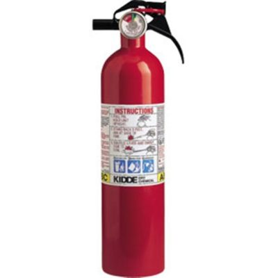 Kidde 2 1/2 lb ABC Fire Extinguisher w/ Nylon Strap Bracket (Disposable)