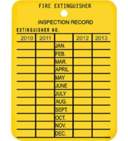4-Year Plastic Inspection Tag